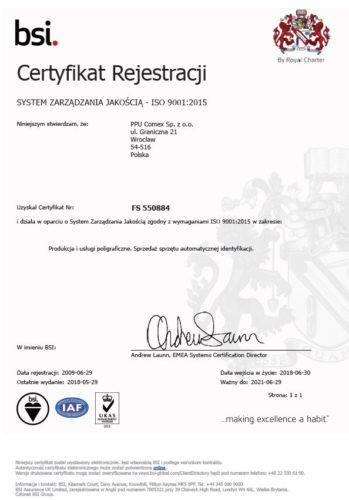 ISO 9001 2015 pol